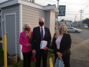 (left to right) Attorney Donna Cohen of the Volunteer Lawyer Project, Clerk-Magistrate Mark Jeffries and Judge Donna Salvidio.